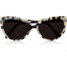 Prism Portofino cat eye matte-acetate sunglasses ($425) ❤ liked on Polyvore