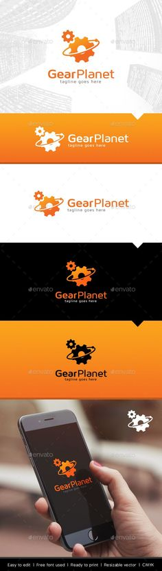 Planet Gear Logo Template Vector EPS, AI. Download here: http://graphicriver.net/item/planet-gear-logo/13481312?ref=ksioks