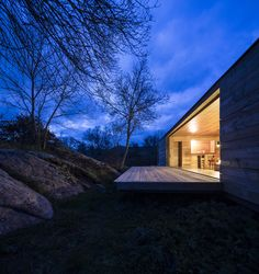 Want a place with large rock outcroppings on the land like this #cabin! B House: Spain's Nature-Loving Retreat | Shelter | OutsideOnline.com