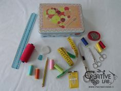 Basic sewing kit: what you need to start sewing - the creative lab Sewing Kit, Sewing Basics, Basic Sewing, Creative Labs, White Out Tape, Doll, Puppet, Dolls, Baby