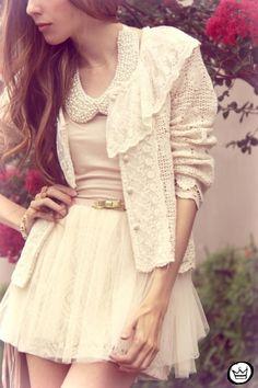 Romantic, I love the skirt(: