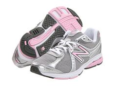 New Balance WW665 Komen Pink - Zappos.com - these are REALLY comfortable shoes and for women with wide feet, there is plenty of room.  Fit me perfect on the first try and I've never had them feel uncomfortable.