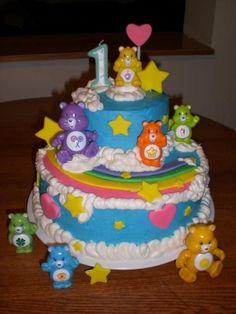Care Bear Celebrate with Cake!: Care Bears Cake girl boys party cake cupcake cake pop birthday rainbow