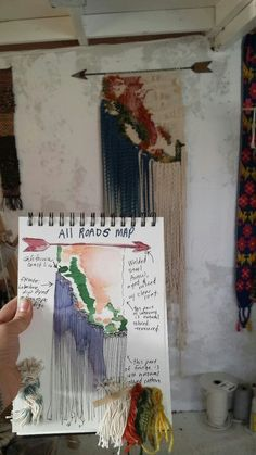 "Watercolor sketch for ""California Weaving"" by All Roads - a special piece for California Home and Design Magazine. Featured in the winter 2013 issue,"