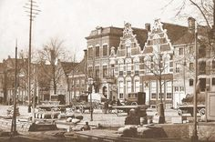 Groningen<br />De stad Groningen: Het Damsterdiep in 1900