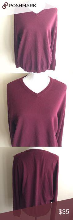 Weatherproof Vintage Men's Cotton Cashmere M Burgundy Men's cotton cashmere long sleeve sweater. 92% cotton 8% cashmere🎈Make an offer 🎈accepts most offers Weatherproof Shirts Tees - Long Sleeve