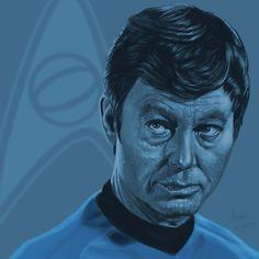 Star Trek TOS portrait series 05 - McCoy - Kelley by jadamfox.deviantart.com on @deviantART
