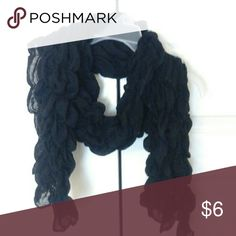 Black ruffle scarf Black ruffle scarf Accessories Scarves & Wraps