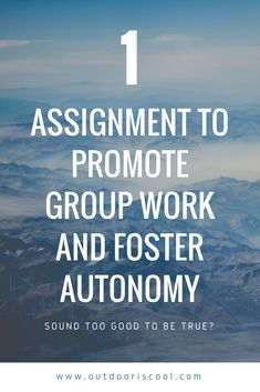 Compelling assignment idea that can be carried out over the course of a semester. Promotes autonomy and group work by making students responsible for creating relevance in their classroom. Outdoor Education, My First Year, Outdoor School, Group Work, Continue Reading, The Fosters, Promotion, Students, Classroom