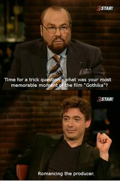 Robert Downey Jr. is truly a cad