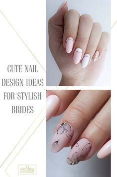 36 Cute Nail Design Ideas For Stylish Brides ♥ It's necessary for every bride to choose wedding nail design.To help you make a choice we've created a beautiful collection of wedding nail designs. #wedding #nails #weddingforward #bride #weddingbeauty #NailDesign Wedding Looks, Perfect Wedding, Wedding Day, Wedding Stuff, Sophisticated Nails, Wedding Nails Design, Make A Choice, Simple Nail Designs, Wedding Beauty