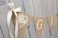 Hey, I found this really awesome Etsy listing at http://www.etsy.com/listing/155016750/gifts-lace-burlap-banner-wedding-banner