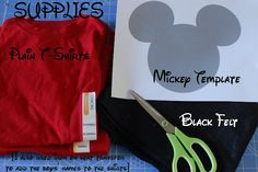 DIY mickey mouse shirts. I wanna do a white T-shirt version of Minnie Mouse with her bow!