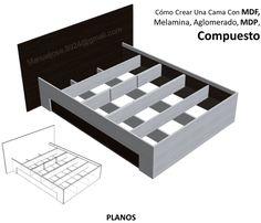 Diseño De Muebles Madera: Cómo Crear Una Cama Con MDF, Melamina, Aglomerado,...                                                                                                                                                                                 Más