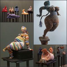 Crochet sculptures by Yulia  Ustinova