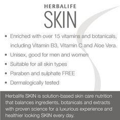 Try the New HERBALIFE SKIN Care Products Experience a 7 DAY Result ...