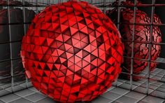 Red sphere made of triangles HD Wallpaper Hd Wallpaper, Wallpapers, Colours, Triangles, Red, Home Decor, Amazing, Wallpaper In Hd, Decoration Home