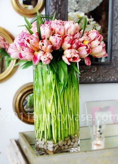 #pink #parrot #tulips @Alessia Ambrogio vase