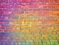 Brick Wall Background, Rainbow Background, Photo Composition, Abstract Images, Photo Illustration, Royalty Free Images, Graffiti, Stock Photos, Color
