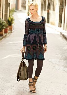 Beautiful crochet dress + charts and photo tutorials for individual elements