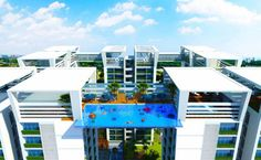 Transparent swimming pool to bridge Indian tower blocks - Swimming Pools - Madieke Car and Tech - Transparent swimming pool to bridge Indian tower blocks - Swimming Pools Transparent swimming pool to bridge Indian tower blocks - Swimming Pools , - Swimming Pool Plan, Swimming Pool Designs, Green Architecture, Architecture Design, Sky Pool, Life Hacks Every Girl Should Know, Outdoor Water Features, Pool Hacks, Pool Fountain