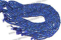 Lapis Lazuli Smooth Round Quality A /  36 cm by GemstoneWholesaler, $24.00