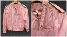 80's Members Only Style Jacket Light Pink - Women's Medium to Large by ElkHugsVintage on Etsy