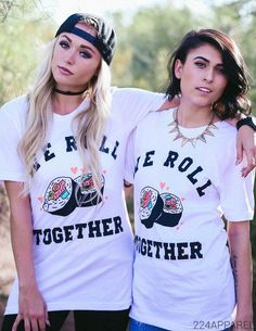 It's how we roll... Unisex boyfriend fit tee, in 100% cotton. Soft as can be! Featured in a White shirt color. Models are wearing size Small.  Want this for your chapter? We can customize any design for Bulk Orders! Please contact us on 224apparel.com for details.