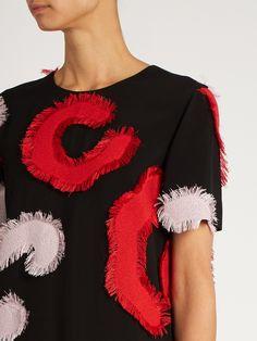 Patchwork-appliqué crepe dress | Versace | MATCHESFASHION.COM UK