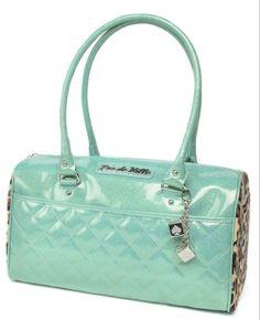 Lux De Ville Atomic Baby Green Sparkle Tote Unique Handbags Purses And Purse