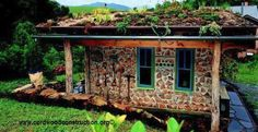 Clarke Snell's hybrid cordwood cottage in NC with living roof