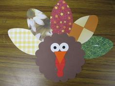 Scrapbook Paper Turkey | First Grade Fanatics   #thanksgiving #craft