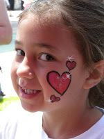 face painting hearts - Google Search