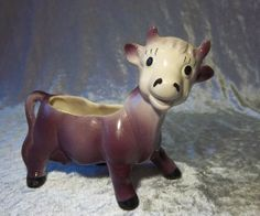 Your place to buy and sell all things handmade Purple Cow, Spider Plants, Horns, Planters, Kitty, Happy, Cute, Vintage, Little Kitty