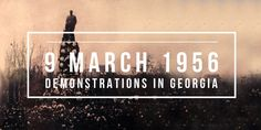 9 March Soviet troops suppress mass demonstrations in the Georgian SSR that support Khrushchev's de-Stalinization High School Students, Student Learning, Georgian, Troops, March, History, College Guys, Georgian Language, History Books