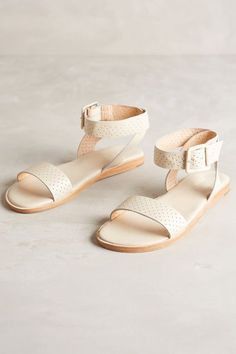Anthropologie Fiel Punch-Dot Sandals Found on my new favorite app Dote Shopping Auburn, Shoe Closet, Shoe Bag, Lace Up Sandals, Neutral Sandals, Girls Sandals, Shoe Station, American Outfitters, Pretty Shoes