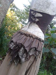 Summer Fields Faery Hand-dyed Extra Long Iris Skirt, Halter and Bustle Set.OOAK. Woodland  Psy Trance Burning Man Gypsy Dance Goddess  :). $260.00, via Etsy.
