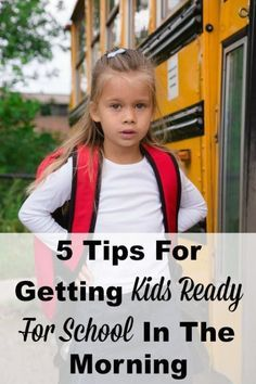 Do you feel like you're scrambling to get the kids ready and out the door each morning for school? If so, here are 5 tips for getting kids ready for school each morning that can help you calm the chaos and get it all done without feeling so stressed. #ad