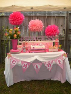 Princess Theme Party | Pluff Mudd Studio: Chloe's Pink Princess Party!