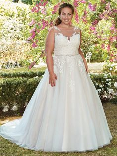 Rebecca Ingram Plus-Size Wedding Dresses in North Dallas Lace Wedding Dress, Maggie Sottero Wedding Dresses, Perfect Wedding Dress, Designer Wedding Dresses, Bridal Dresses, Dresses Dresses, Tulle Ball Gown, Ball Gowns, Wedding Gown Gallery