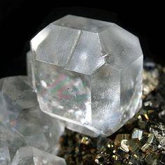 Unique Fluorite on Pyrite