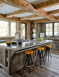 never thought barn siding would look so nice in a kitchen. 30 Rustic Chalet Interior Design Ideas