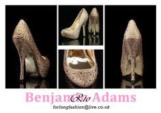Benjamin Adams Rio champagne gold silk evening shoes - a modern, covered platform court shoe adorned with hundreds of multi-sized golden and ab crystals.   Made in finest quality Champagne silk   Soft kid golden coloured leather lining, Leather sole  Heel Height approx. 12cm   Available in sizes 35-41 (UK 2-8)