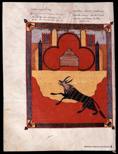 The Beatus of Facundus manuscript) Medieval Manuscript, Medieval Art, Illuminated Manuscript, Illuminated Letters, Ancient Aliens, Ancient Art, Chef D Oeuvre, Old Paintings, European History