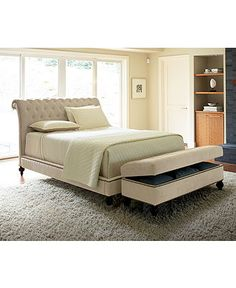 abby upholstered king bed, created for macy's   furniture sets