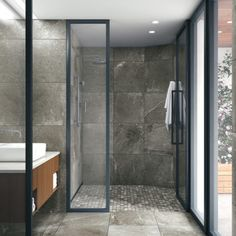 This bathroom utilizes a cement gray marble look with stark but sparse white veining throughout the entire space. This bathroom utilizes a cement gray marble look with stark but sparse white veining throughout the entire space. Grey Marble Bathroom, Cement Bathroom, Bathroom Countertops, Grey Bathrooms, Gray Marble, Master Bathroom, Cozy Bathroom, Bathroom Layout, Small Bathroom