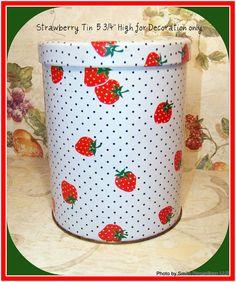 Vintage Strawberry Tin