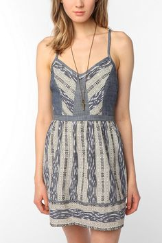 Staring at Stars Ikat Twofer Dress  #UrbanOutfitters