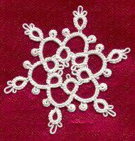 Ring of Tatters - Sally Magill's Quick Snowflake Patterns  #tat #tatting #tatted