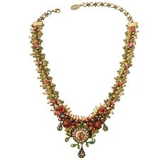 Michal Negrin Brass, Swarovski Crystals Necklace with Hand Painted Flowers Michal Negrin http://www.amazon.com/dp/B006PJB60I/ref=cm_sw_r_pi_dp_evamvb10WDR7B